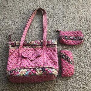Vera Bradley purse and matching accessories